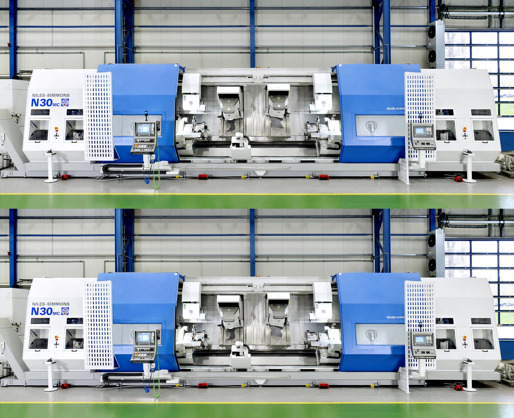 """Dreh-Fräs-Zentrum N30 MC - konfiguriert für das Bearbeitungskonzept """"Closed-Door-Machining"""""""