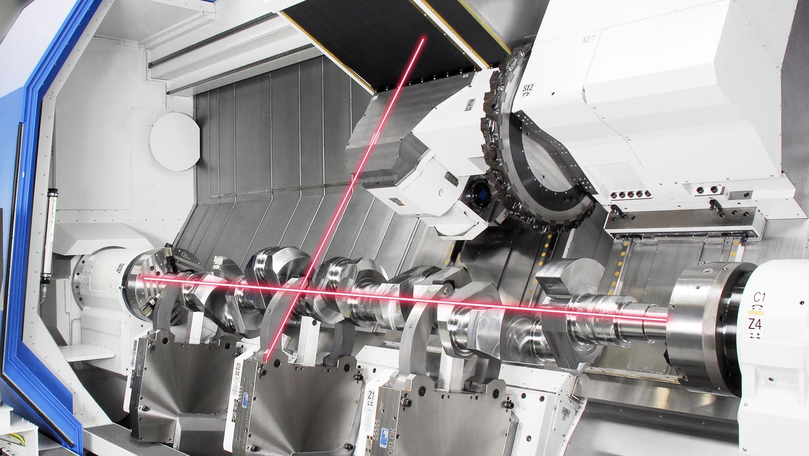 Werkzeugmaschinen Service: Laser_Vermessung
