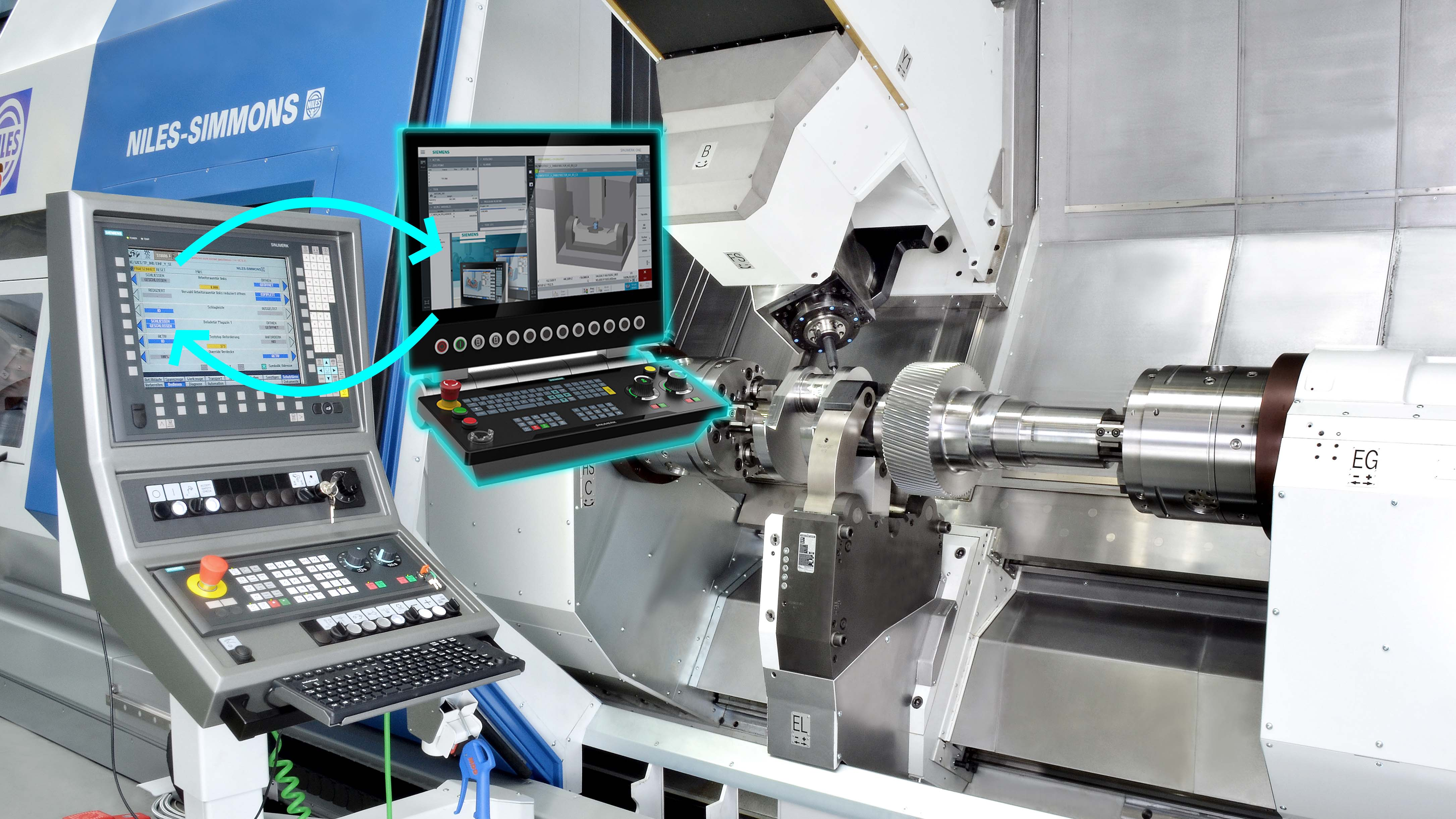Werkzeugmaschinenbau Service: Steuerungs-Upgrade / Machine Tool Service: Controls-Upgrade