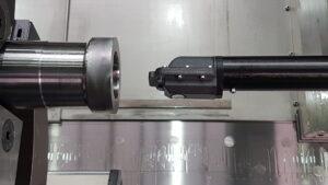 Wirbelstromsensor zur Ermittlung der optimalen Werkstückzentrumsachse